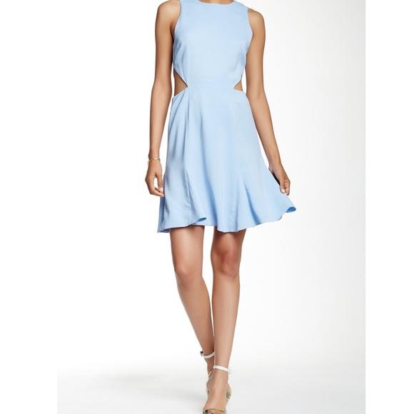 d4f8a82ddc1 Rachel Zoe Anna Dress in Periwinkle Blue Cutouts